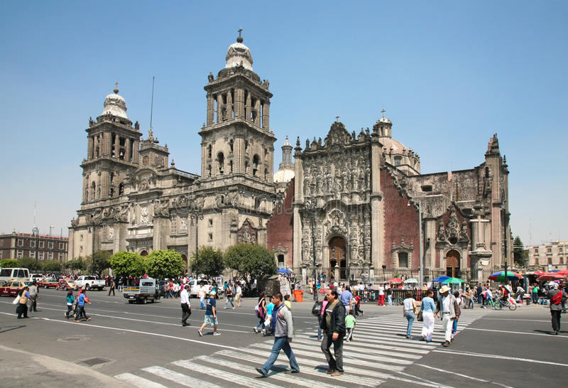 Cathedral Metropolitana in Mexico City royalty free stock photo