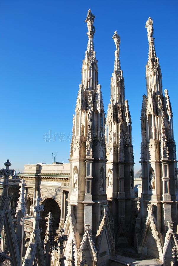Cathedral of Milan stock image