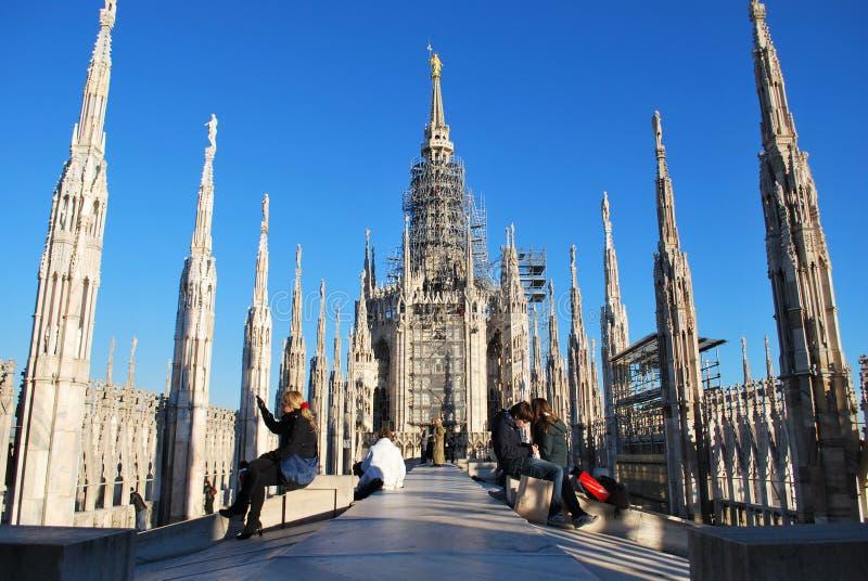 Cathedral of Milan royalty free stock image