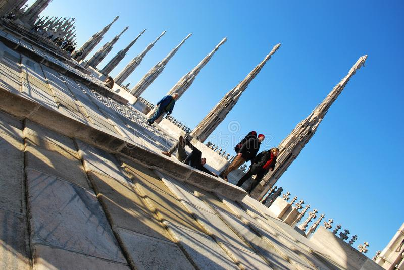 Cathedral of Milan stock images