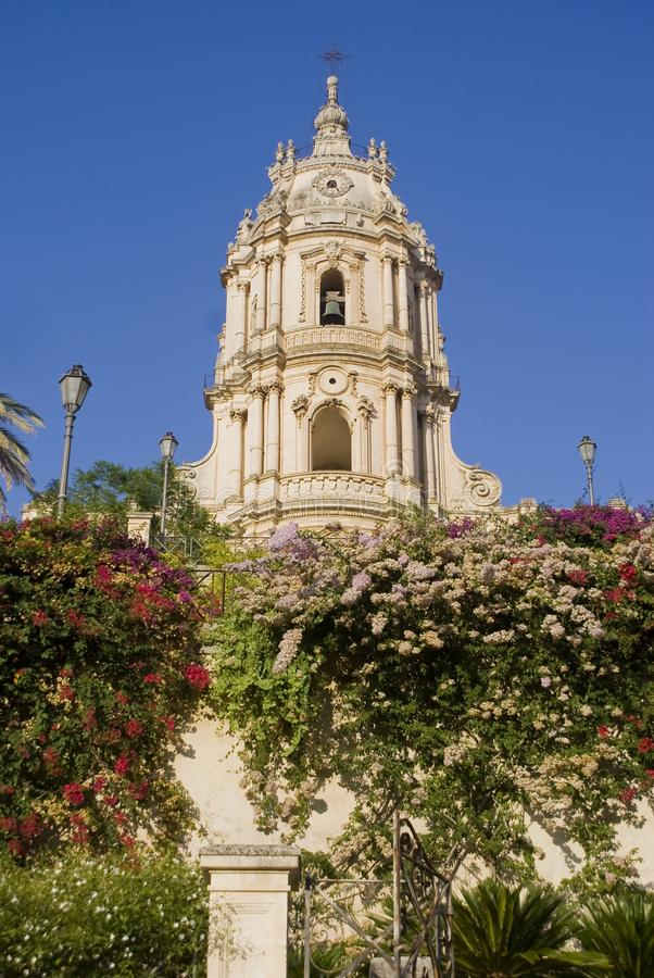 Cathedral of Modica, Sicily stock images