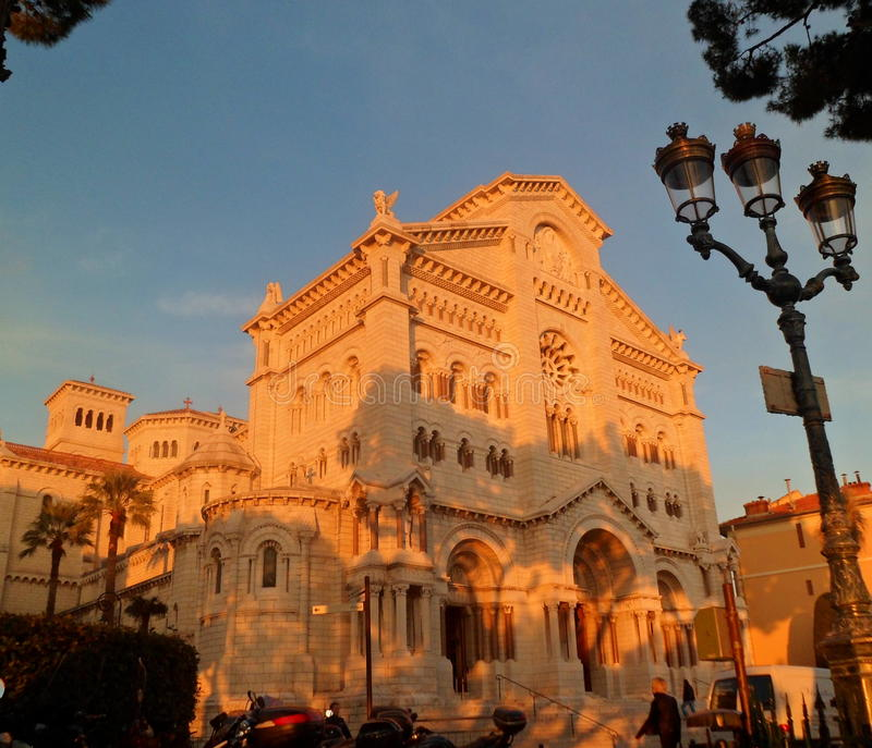 Cathedral in Monako stock photography