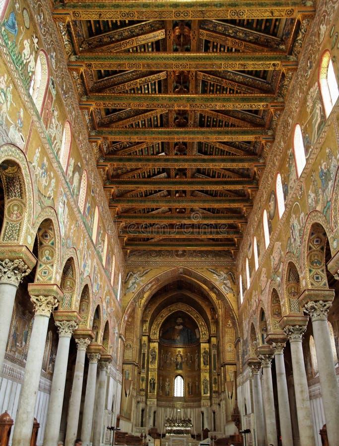 cathedral monreale στοκ εικόνα