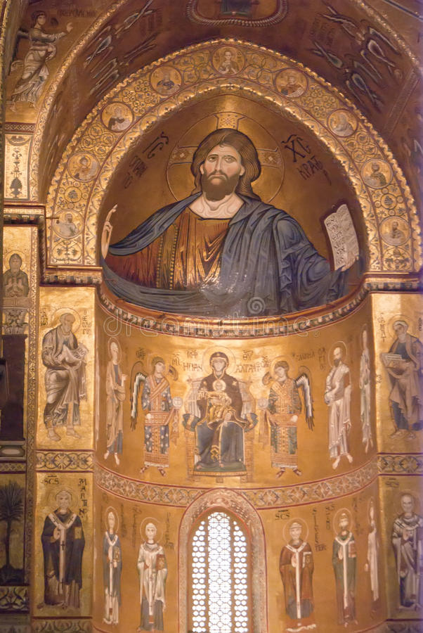 Download Cathedral Of Monreale. Golden Mosaics. Sicily Stock Image - Image: 27405347