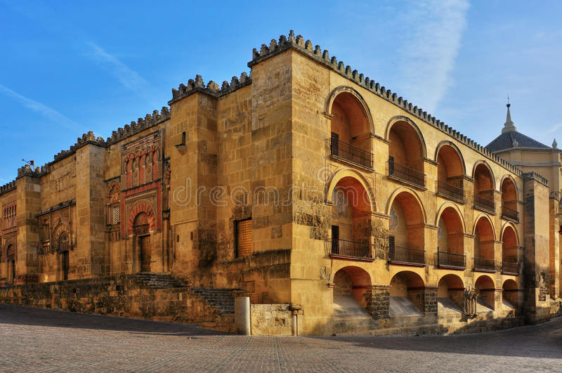 Cathedral Mosque of Cordoba, Spain. View of Cathedral Mosque of Cordoba, Spain royalty free stock photo