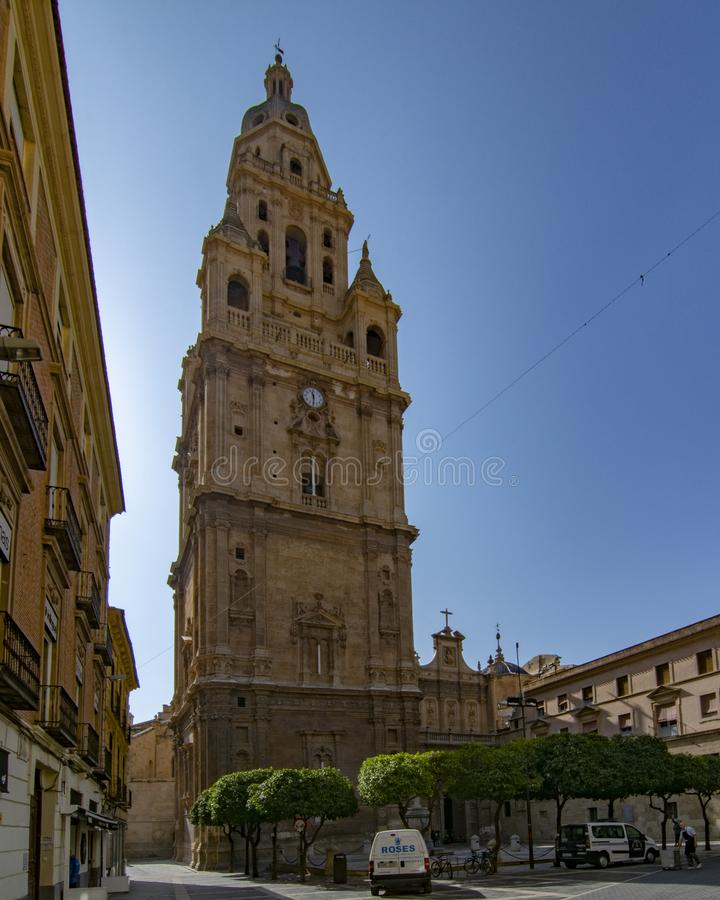 The Cathedral of Murcia in Spain royalty free stock image