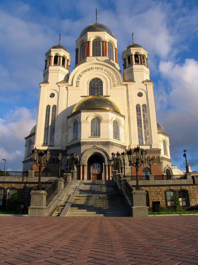 Cathedral in the names of all saints. Russia stock photography
