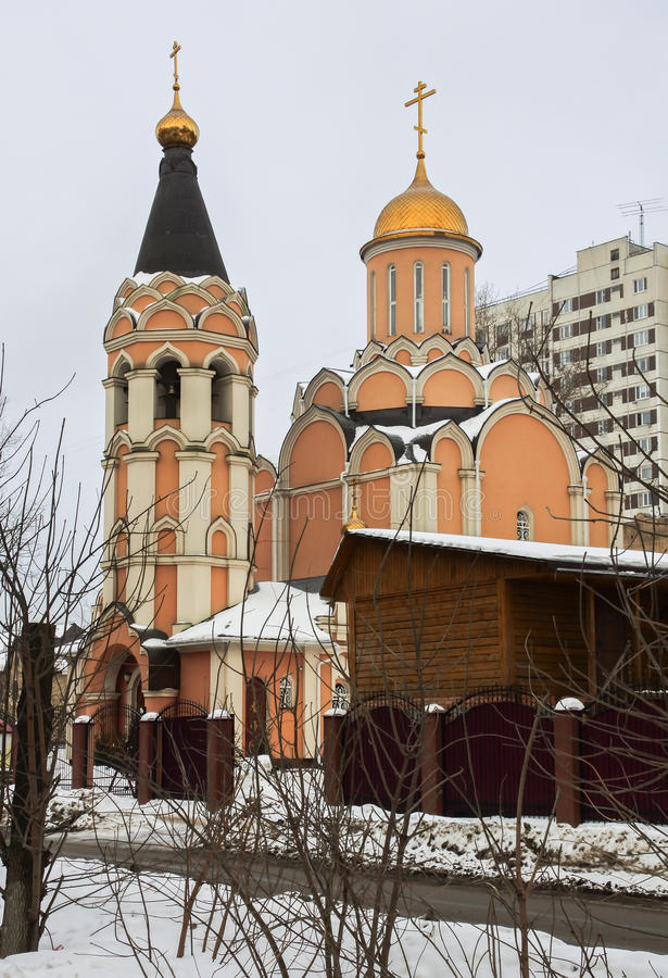 Cathedral of the New Martyrs and Confessors of Russia, Kuchino district, Moscow region. The Christians used to especially honor martyrs who testified their stock image