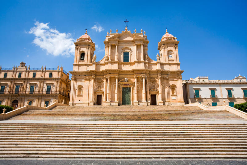 The Cathedral In Noto, Sicily, Italy Royalty Free Stock Images