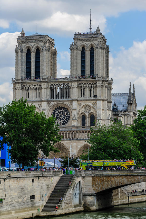 Cathedral Notre Dame de Paris royalty free stock photo
