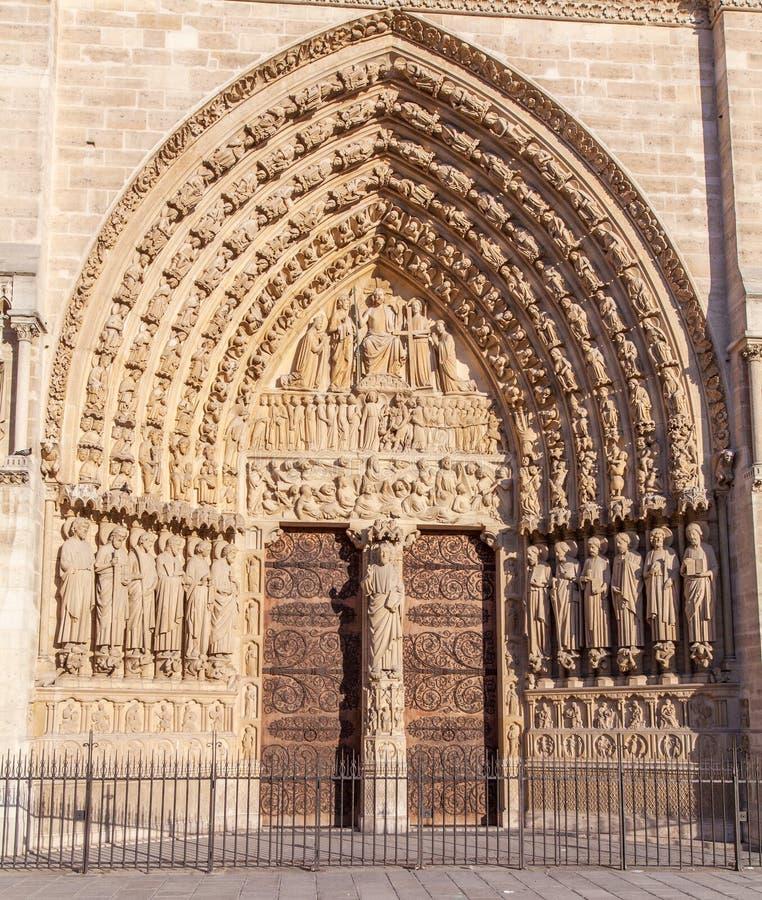 Cathedral Notre Dame de Paris royalty free stock photos