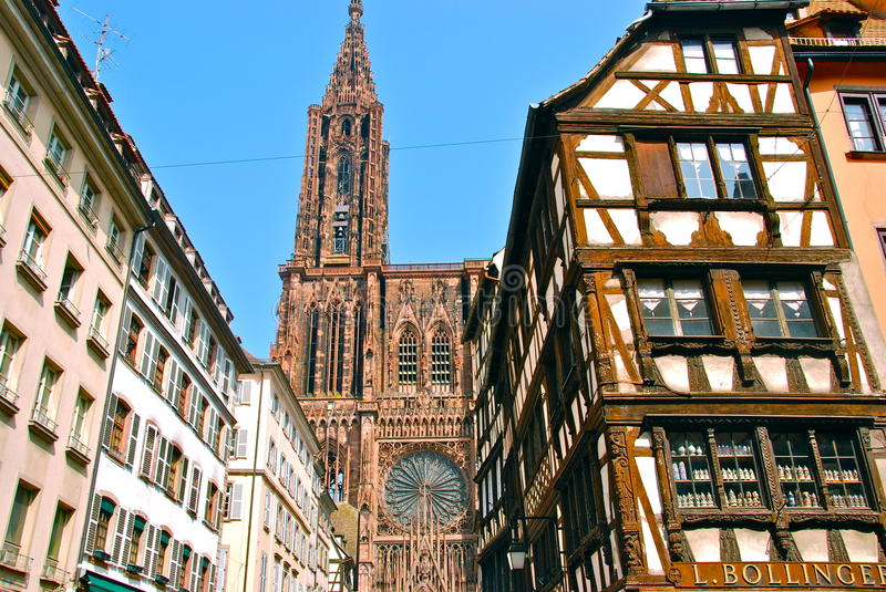 Cathedral Notre-Dame de Strasbourg royalty free stock photography