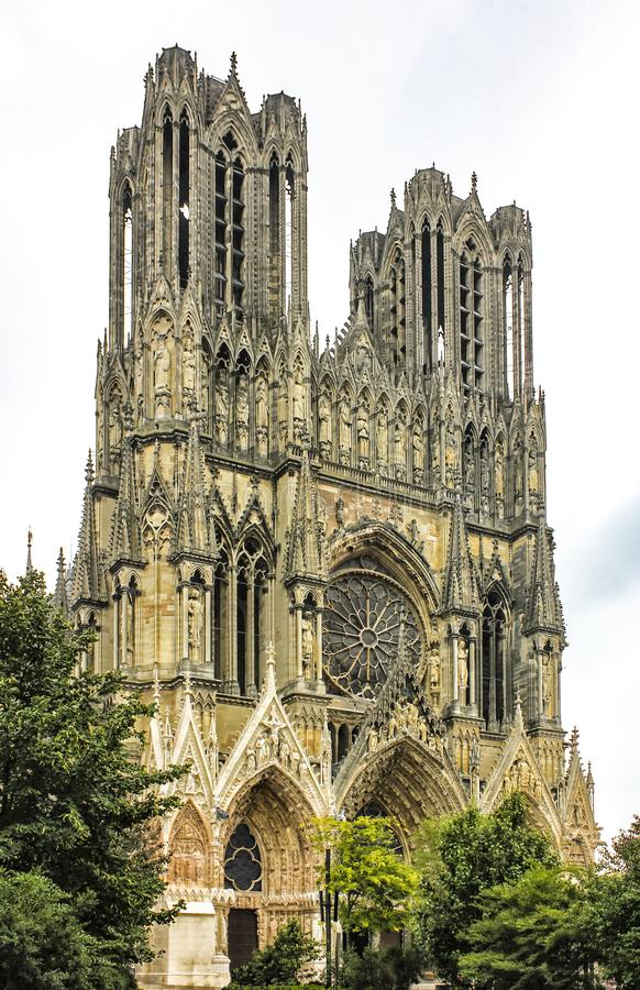 Cathedral Notre Dame in Reims, France royalty free stock photos
