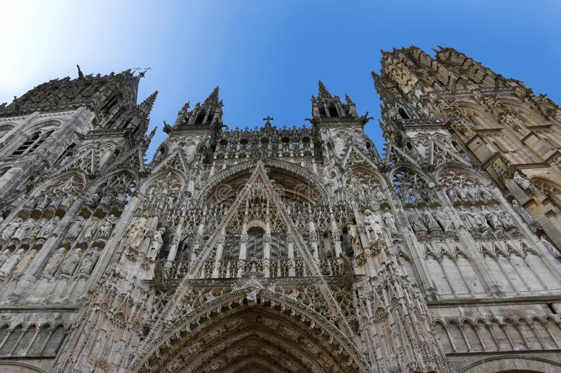 Cathedral Notre Dame of Rouen, Normandy royalty free stock photography
