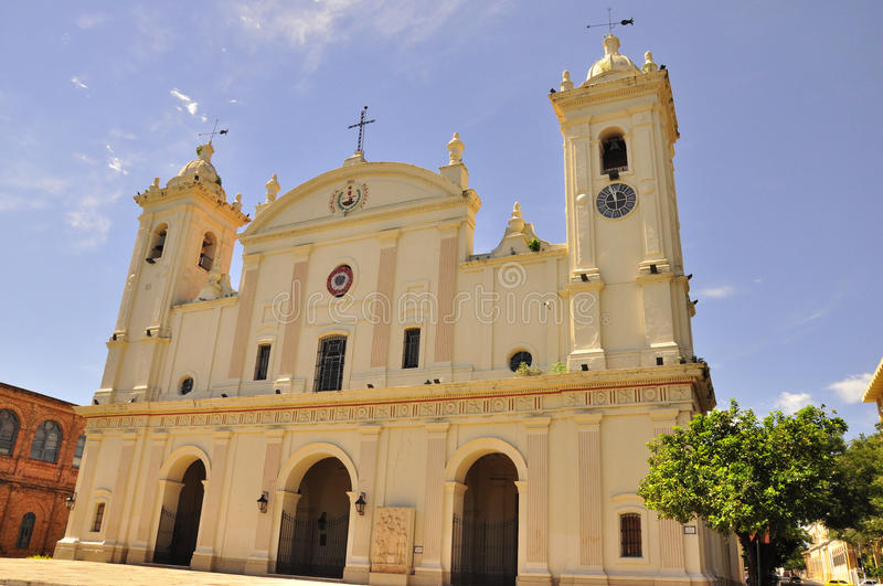 Cathedral Nuestra Senora, Asuncion, Paraguay. Catedral de Nuestra Senora de la Asuncion, Paraguay.Though this building has undergone recent renovations, it still royalty free stock photo