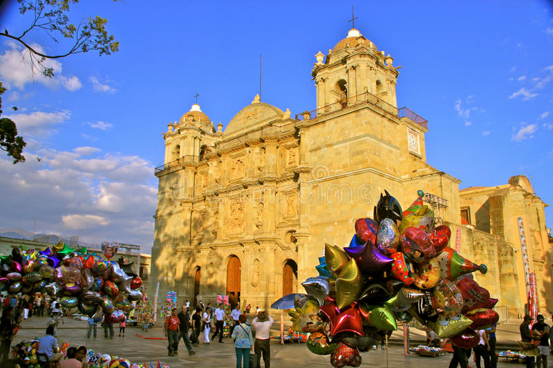 Cathedral of Oaxaca, Mexico stock image