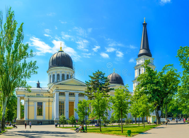 The Cathedral of Odessa stock photography
