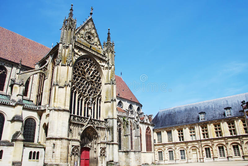 Cathedral of old town of Sens - France. Yonne royalty free stock photography