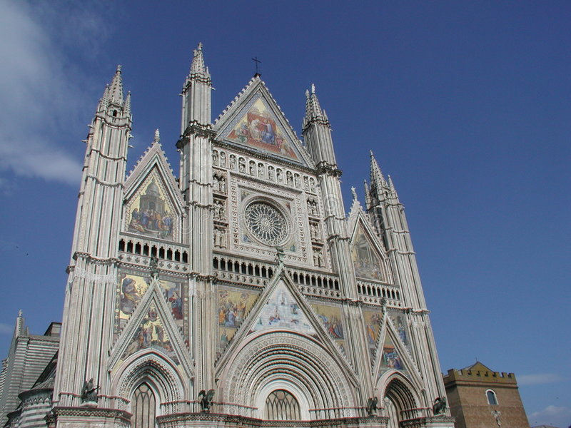 Cathedral in Orvieto stock images