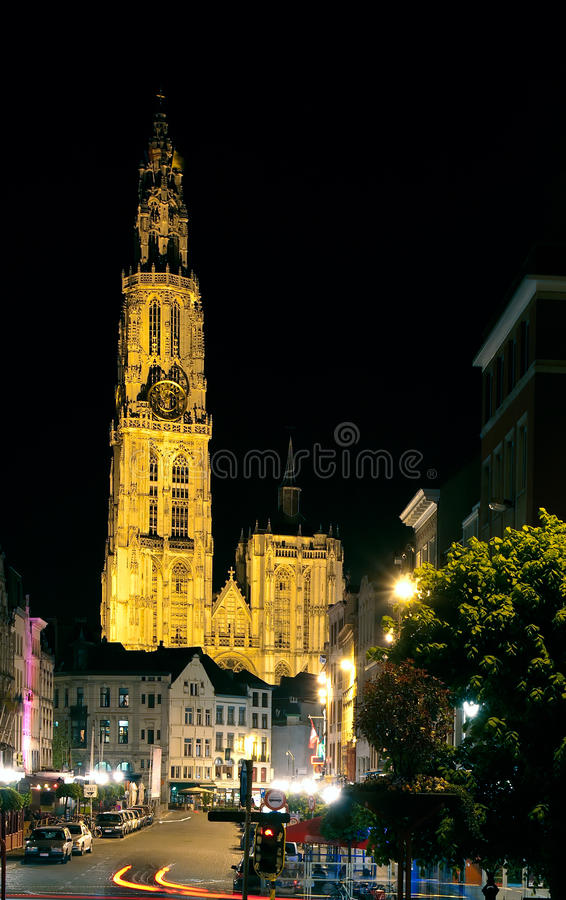 Cathedral of Our Lady, Antwerp, Belgium stock photo