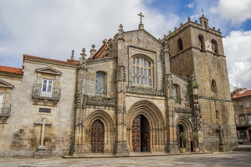 The Cathedral of Our Lady of the Assumption in Lamego. Portugal stock images