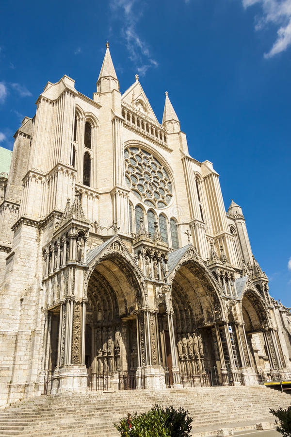 Cathedral of Our Lady of Chartres (Cathédrale Not royalty free stock photos