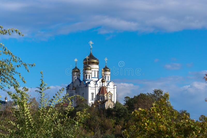 Cathedral of our lady of kazan stock photos
