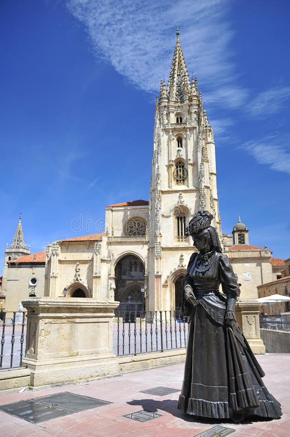 Cathedral of Oviedo, Asturias. royalty free stock images