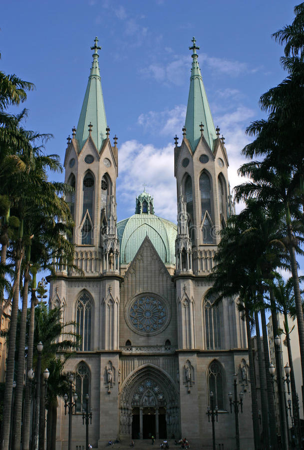 Cathedral Of Padre Jose Anchieta Stock Photos