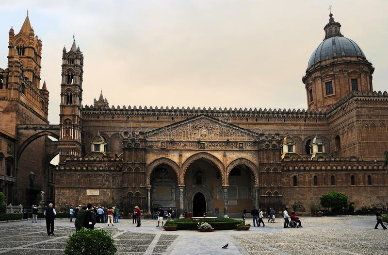 Cathedral Palermo stock photo