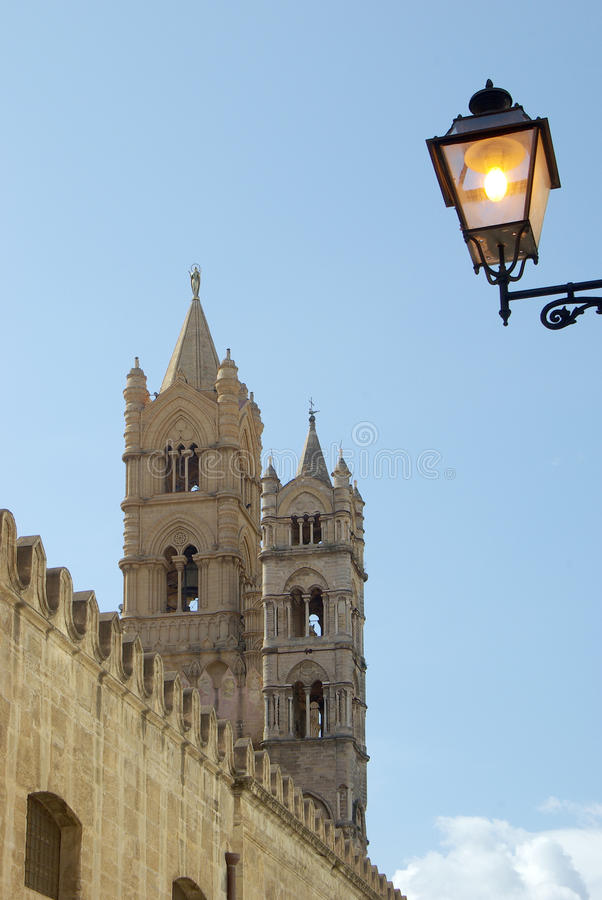 Cathedral of palermo stock photos
