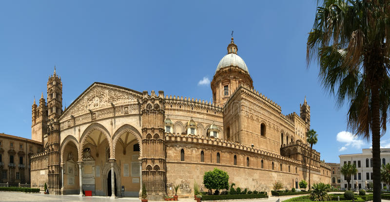 Cathedral of Palermo, Sicily, southern Italy stock photography