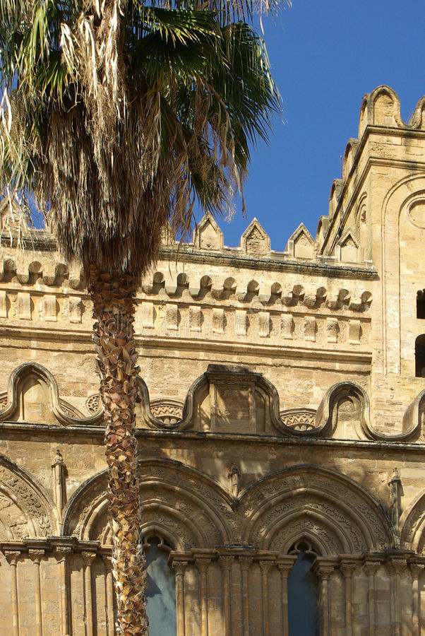 Cathedral of palermo royalty free stock images