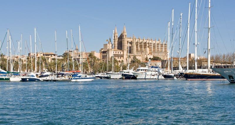 Cathedral of Palma de Mallorca stock photography