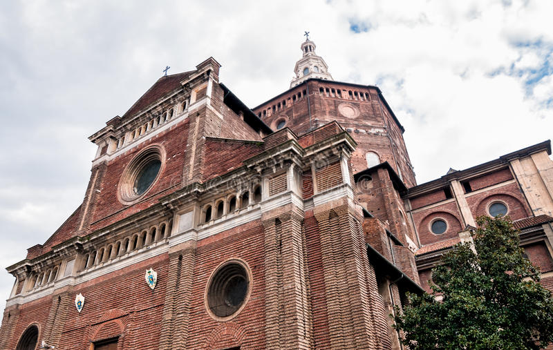 The Cathedral of Pavia, Italy. The Cathedral of Pavia in Italy stock image
