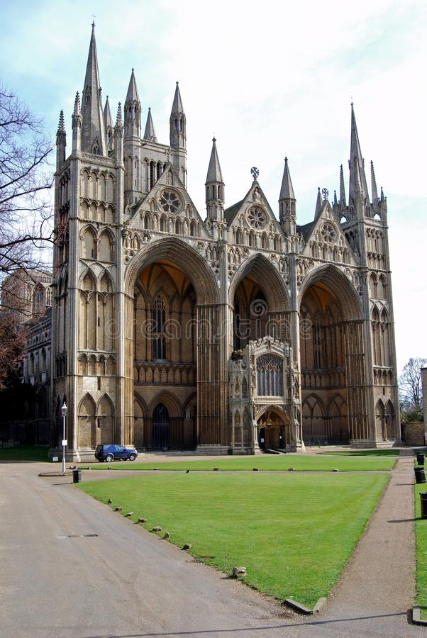 Cathedral, Peterborough, England. stock image