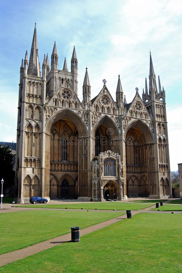 Cathedral, Peterborough, England. stock photo