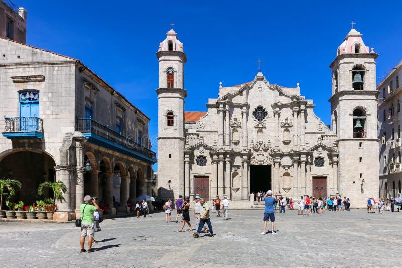Cathedral of the Plaza de la Catedral, Cuba, Havana stock photos