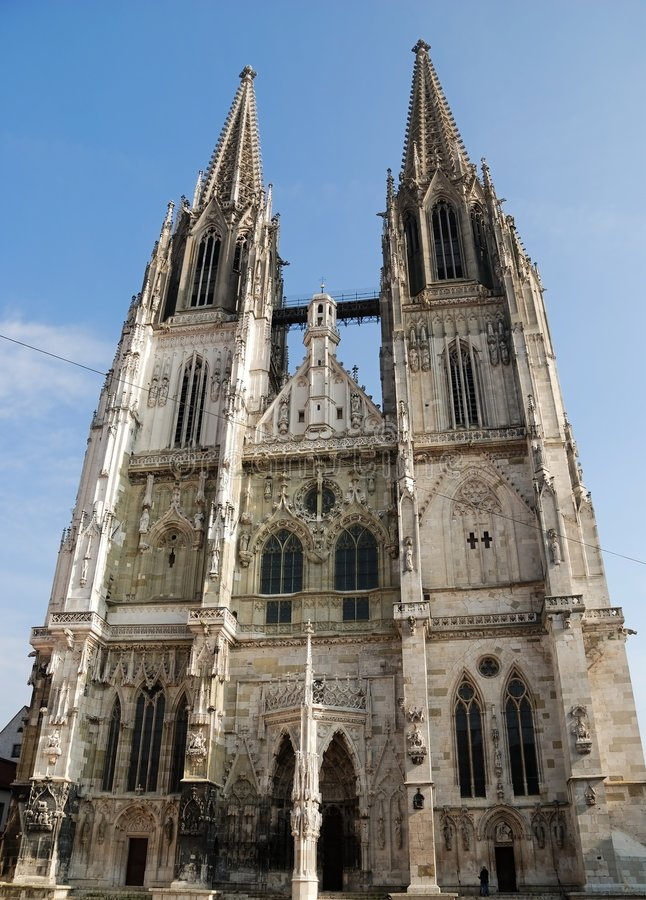 Download Cathedral of Regensburg stock image. Image of weathered - 1984395
