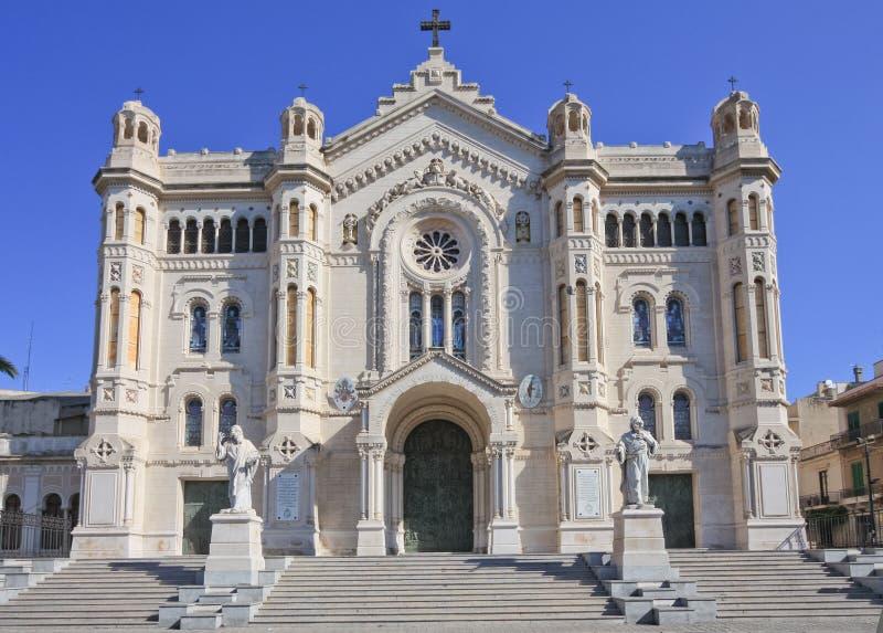 Cathedral of Reggio Calabria royalty free stock photo
