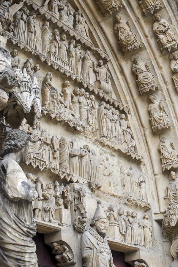 Download Cathedral Of Reims - Exterior Stock Image - Image: 27535417
