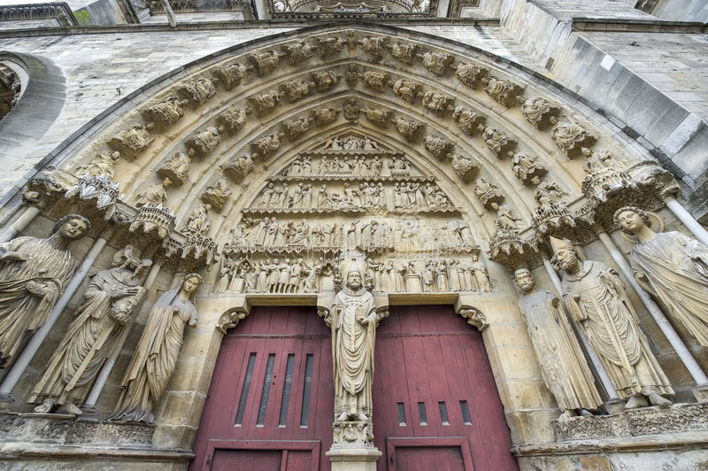 Download Cathedral Of Reims - Exterior Stock Photo - Image of french, column: 27535424