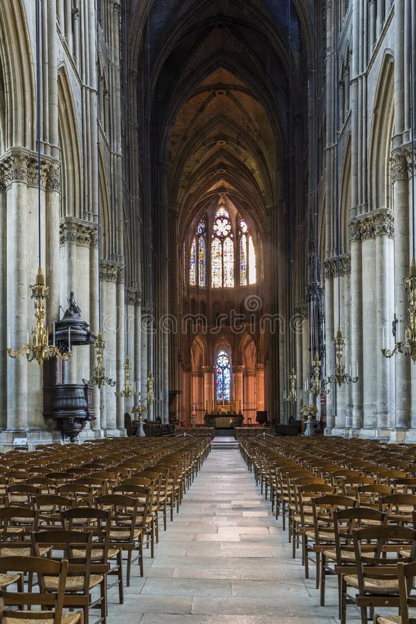 Attractive Download Cathedral Reims Interior Editorial Stock Photo. Image Of Catholic    102805223