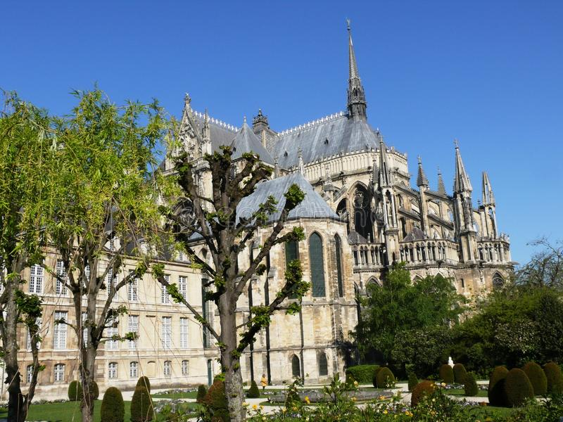 Cathedral of Reims in the Marne in France royalty free stock photography