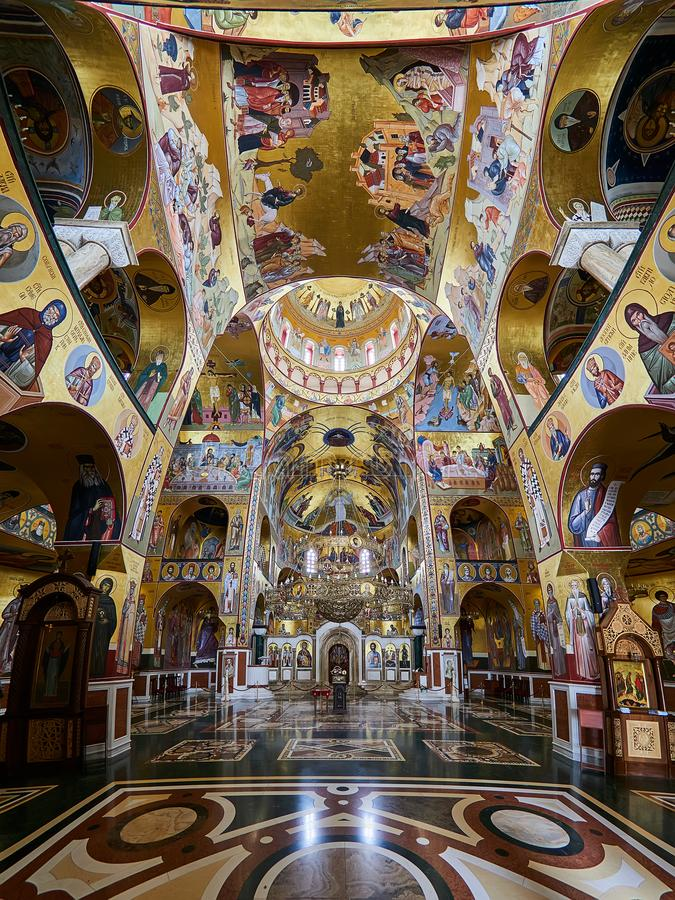 Cathedral of the Resurrection of Christ in Podgorica, Montenegro.  stock image