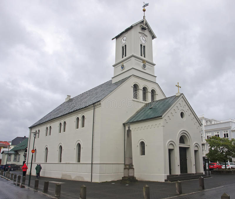 The cathedral in Reykjavik royalty free stock photography