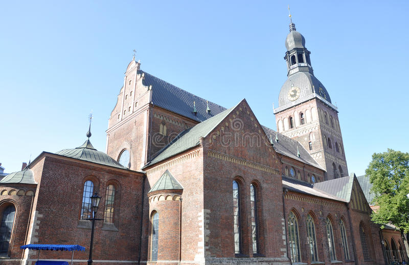 Cathedral from Riga in Latvia stock photo