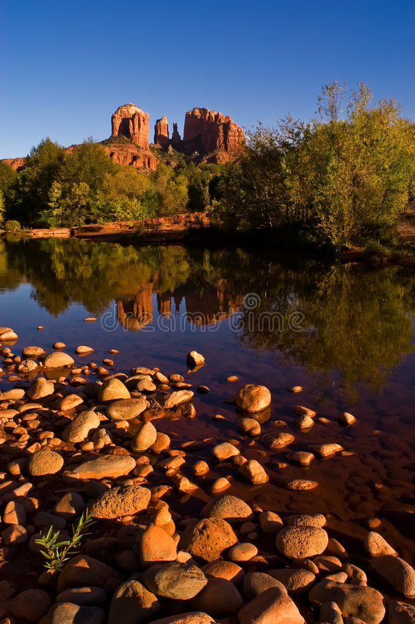 Free Cathedral Rock Reflection Stock Photography - 5310532
