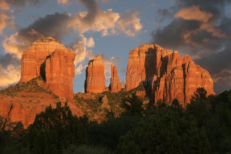 Cathedral Rock, Sedona, AZ stock images