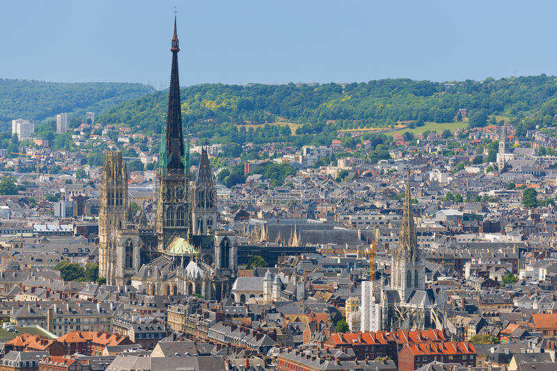Cathedral in Rouen royalty free stock photography